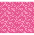 Seamless hand-drawn doodle heart background vector image
