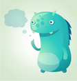 thinking monster vector image vector image