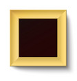 Golden square frame isolated vector image