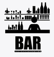 bar desing vector image