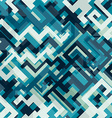 blue tech seamless pattern vector image