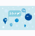 Bubbles conversation vector image