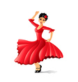 Girl dancing flamenco isolated on white vector image
