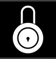 lock white color icon vector image