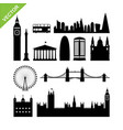 london england landmark silhouettes vector image