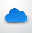 Paper blue cloud on white vector image