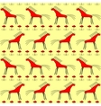 Red horse seamless pattern vector image
