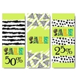 Sale design Collection of three hand drawn vector image