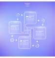 Transparent glossy panel on blurred background vector image