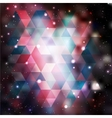 Triangle background with galaxy texture vector image