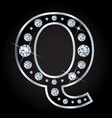 q letter made with diamonds isolated on vector image vector image