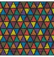 Seamless triangle grunge pattern background vector image vector image
