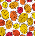 Floral seamless pattern autumn leaves seamless vector image vector image