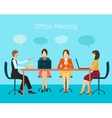 for business people man and woman vector image