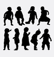 Children activity silhouettes vector image