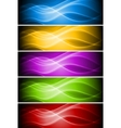 set of vibrant banners vector image vector image