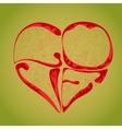 pendant heart vector image vector image