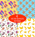 Set of summer patterns vector image