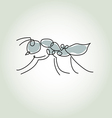 Ant in minimal line style vector image vector image