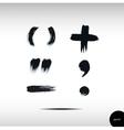 Calligraphic watercolor punctuation set vector image