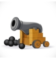 Cannon on a white background vector image