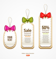 Colorful ribbons Label and Tag design vector image