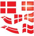 flag of Denmark vector image