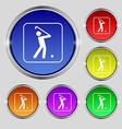 Golf icon sign Round symbol on bright colourful vector image