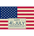 Happy Independence Day background template Happy vector image