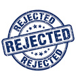 rejected blue grunge round vintage rubber stamp vector image