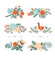 Set of Botanical graphic elements vector image