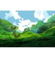 tropical green mountains vector image