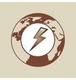 weather forecast globe lightning icon graphic vector image