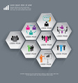 Business Infographics Hexagon can be used for vector image