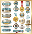 Luxury golden labels vector image