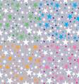 background shining stars vector image