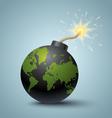 Bomb global vector image vector image