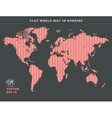 World map Striped rose map silhouette on dark vector image