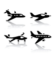 set of transport icons - airplane vector image vector image