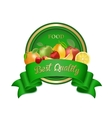 Best quality food label badge with fruits vector image vector image