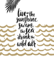 Summer handwritten calligraphy quotes vector image