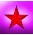 Red metallic star on a purple background EPS 8 vector image vector image
