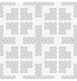 celtic knot cross seamless vector image vector image