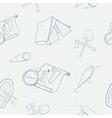 Camping hand drawn seamless pattern vector image