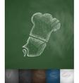 chef icon Hand drawn vector image