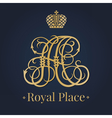 Letter A monogram royal logo vector image