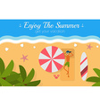 Paradise tropical island aerial view postcard vector image