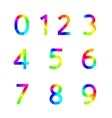 Rainbow numbers vector image