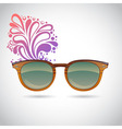 Realistic old-fashioned hipster glasses vector image