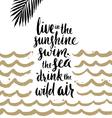 Summer handwritten calligraphy quotes vector image